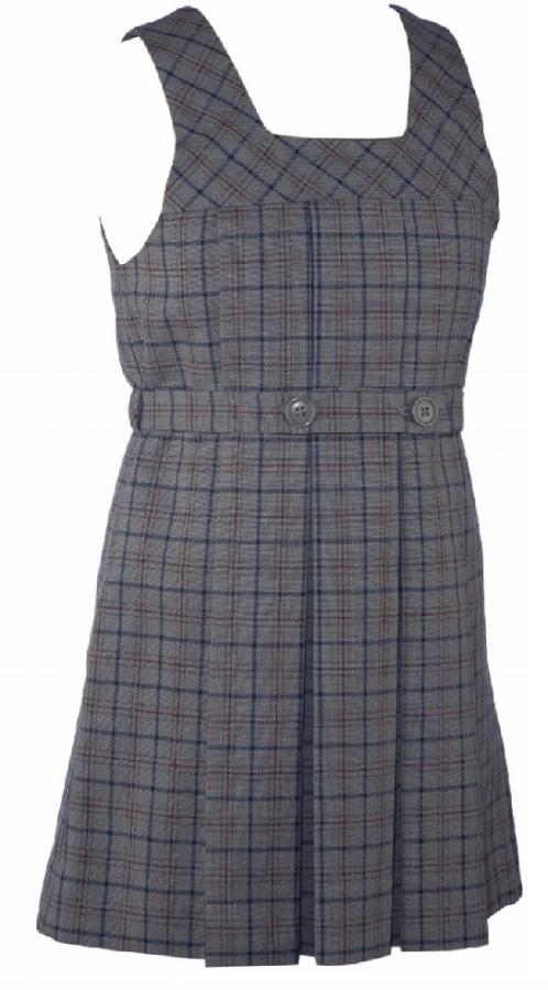 5d53a5604e1f School Uniform Girls Plaid Jumper Tunic With Attached Belt | Keturah ...