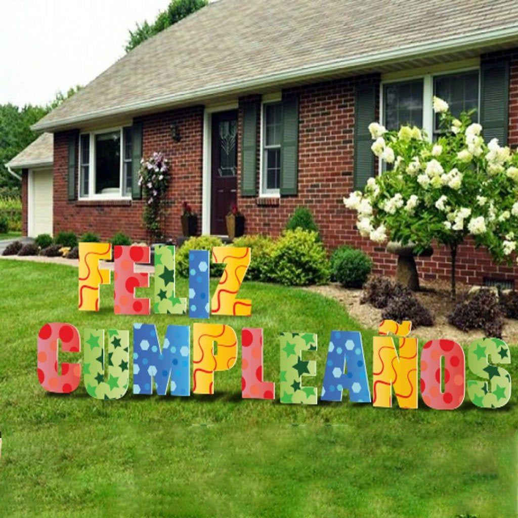 Custom Happy Birthday Yard Letters