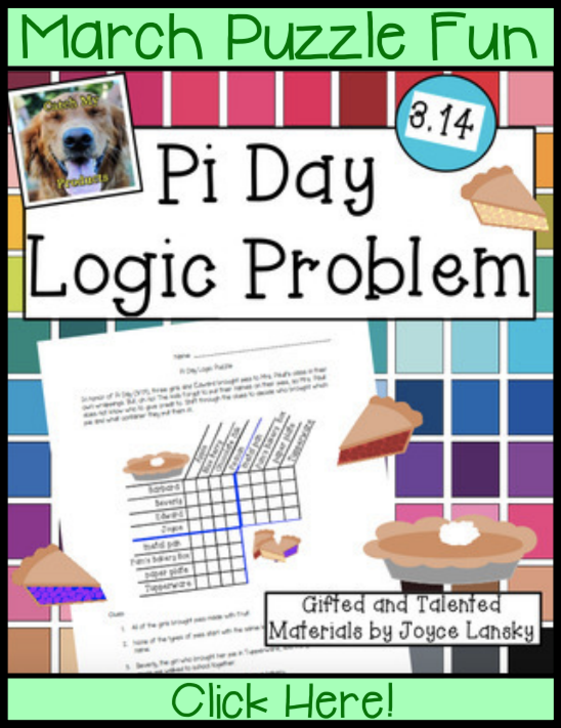 Pi Day Activities : Logic Puzzle | Cheap Ideas for Teachers