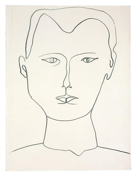 Ellsworth Kelly, Self-Portrait, 1949
