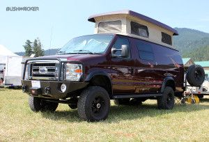 Sportsmobile Ford Van With Bushwacker Extend A Fender Flares