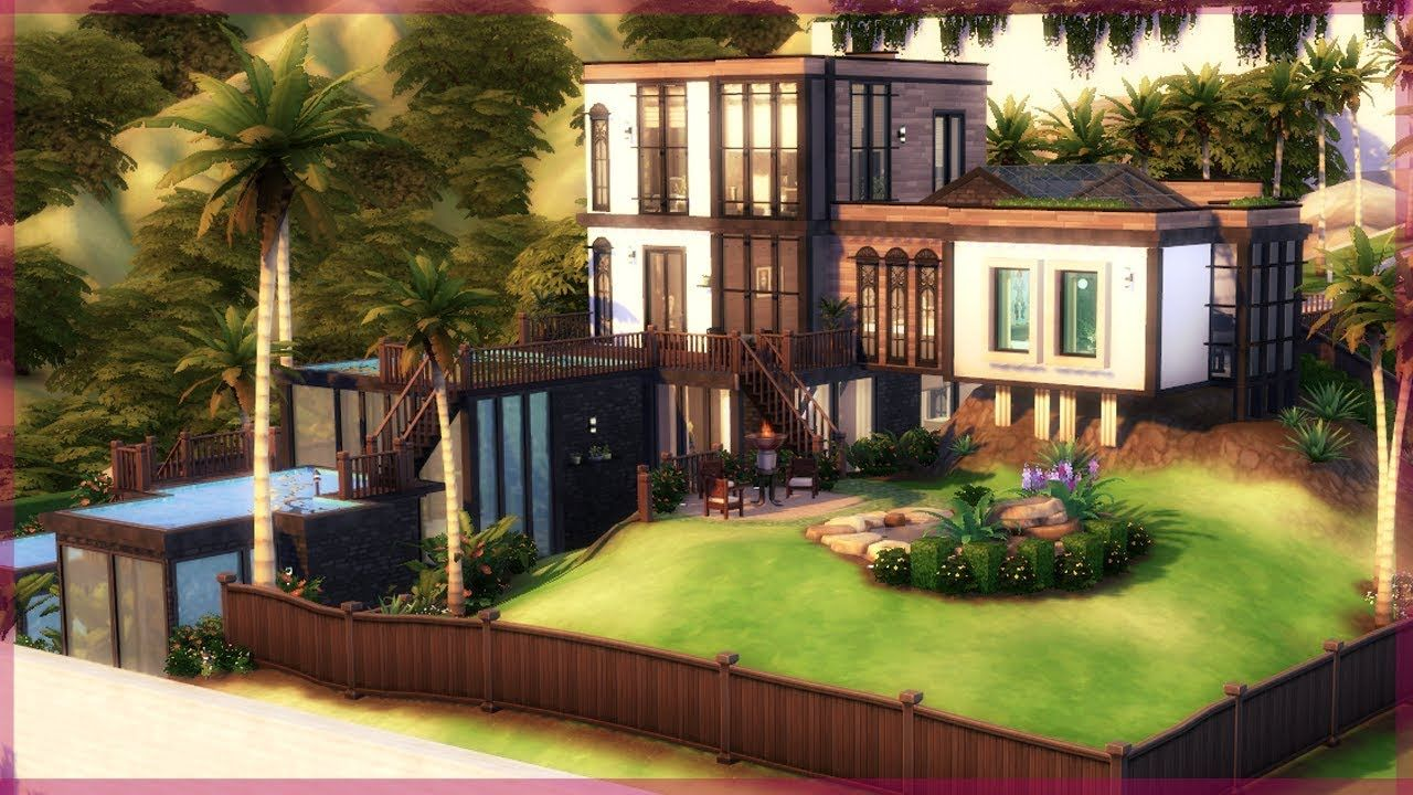 Celebrity Mansion Base Game Get Famous Only The Sims 4 Speed Celebrity Houses Celebrity Mansions Mansions
