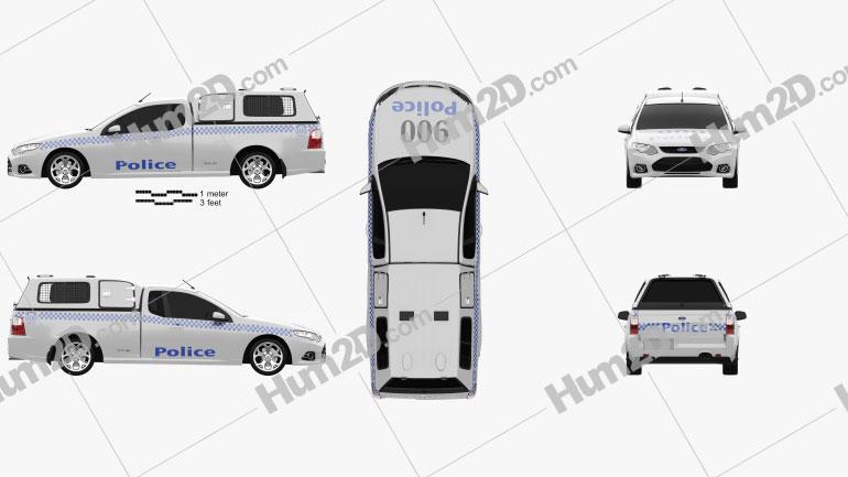 Ford Falcon Ute Xr6 Police 2011 Clipart Police Clip Art Ford Falcon