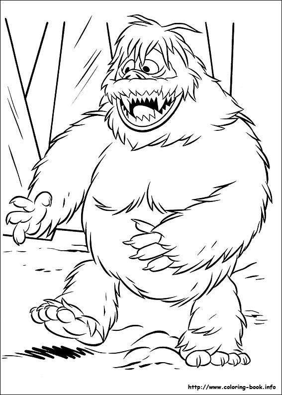 Snow Bumble Color Page Monster Coloring Pages Rudolph Coloring Pages Snowman Coloring Pages