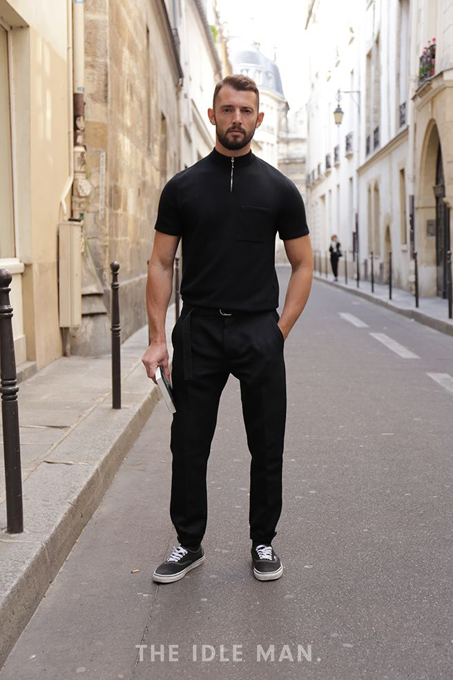 Men's street style | Back to Basics - Wanna keep it minimal? Stick to an all black outfit to get the look down to a T. | Shop the look at The Idle Man