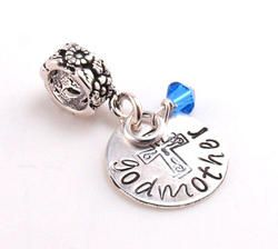 Personalized Godmother Charm Bead - Pandora Compatible