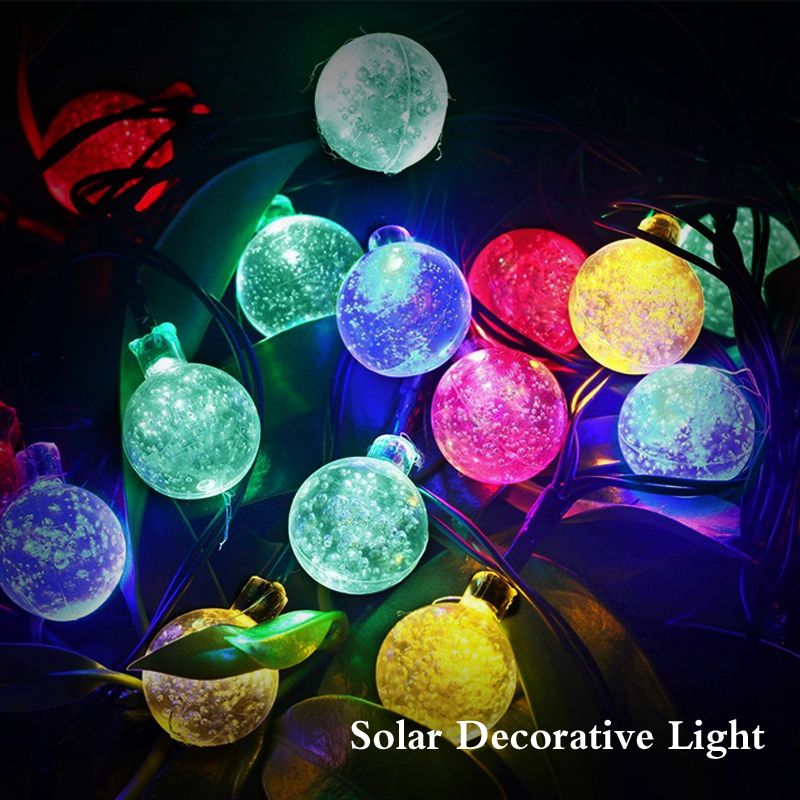 Solar Outdoor 30 Led Ball String Christmas Tree Decoration Light For Patio  Street Garden Photo,