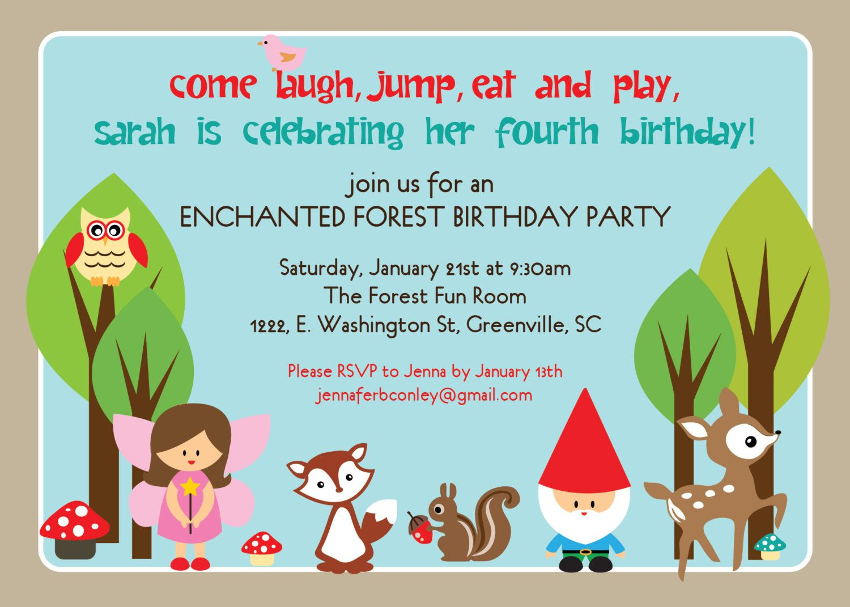 Printable woodland birthday invitation enchanted forest fairy printable woodland birthday invitation enchanted by ohcreativeone 1250 stopboris Gallery