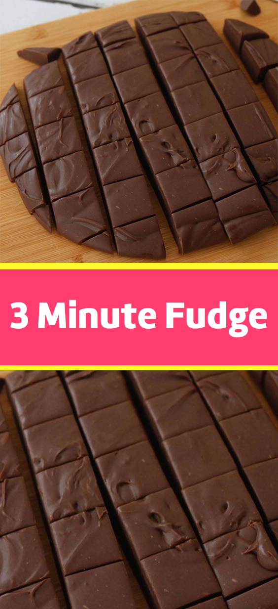 3 Minute Fudge #homemadesweets