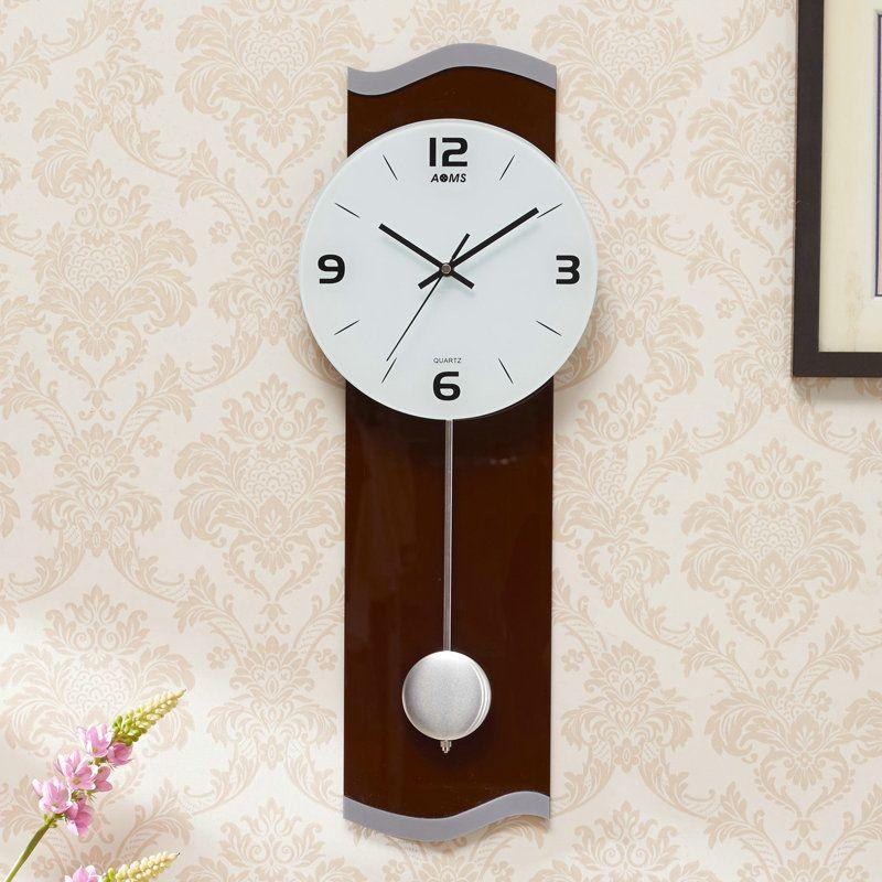 Contemporary Pendulum Wall Clock Acrylic Non Ticking Wall Clock Pendulum Wall Clock Wall Clock Clock