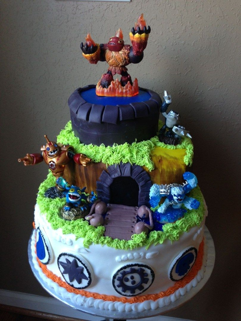Pleasing 32 Inspired Picture Of Skylander Birthday Cake With Images Funny Birthday Cards Online Elaedamsfinfo