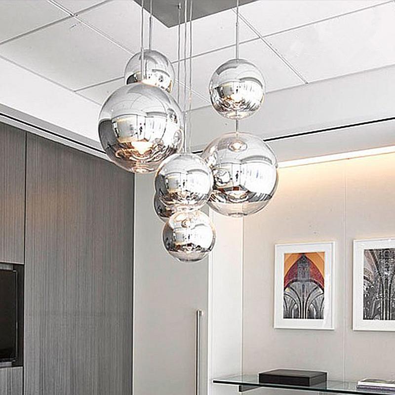 28 40 Watch Now Modern Nordic Glass Globe Pendant Lights Chrome