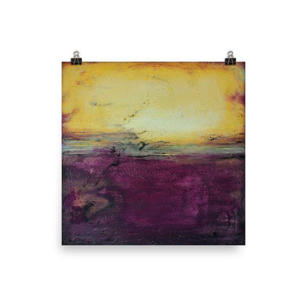 Purple Wall Art - Luxe Home Decor - Square Poster Print | Purple ...