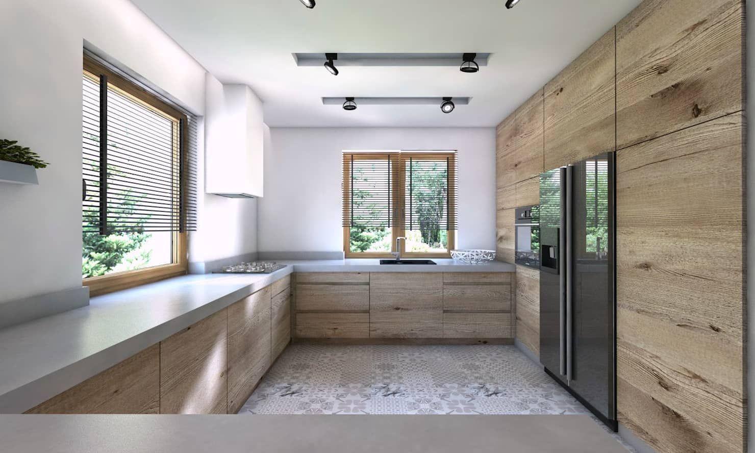 Projekt Domu Jednorodzinnego 5 Bagua Pracownia Architektury Wnetrz Nowoczesna Kuchnia Homify Luxury Kitchens Kitchen Furniture Design Kitchen Design Small