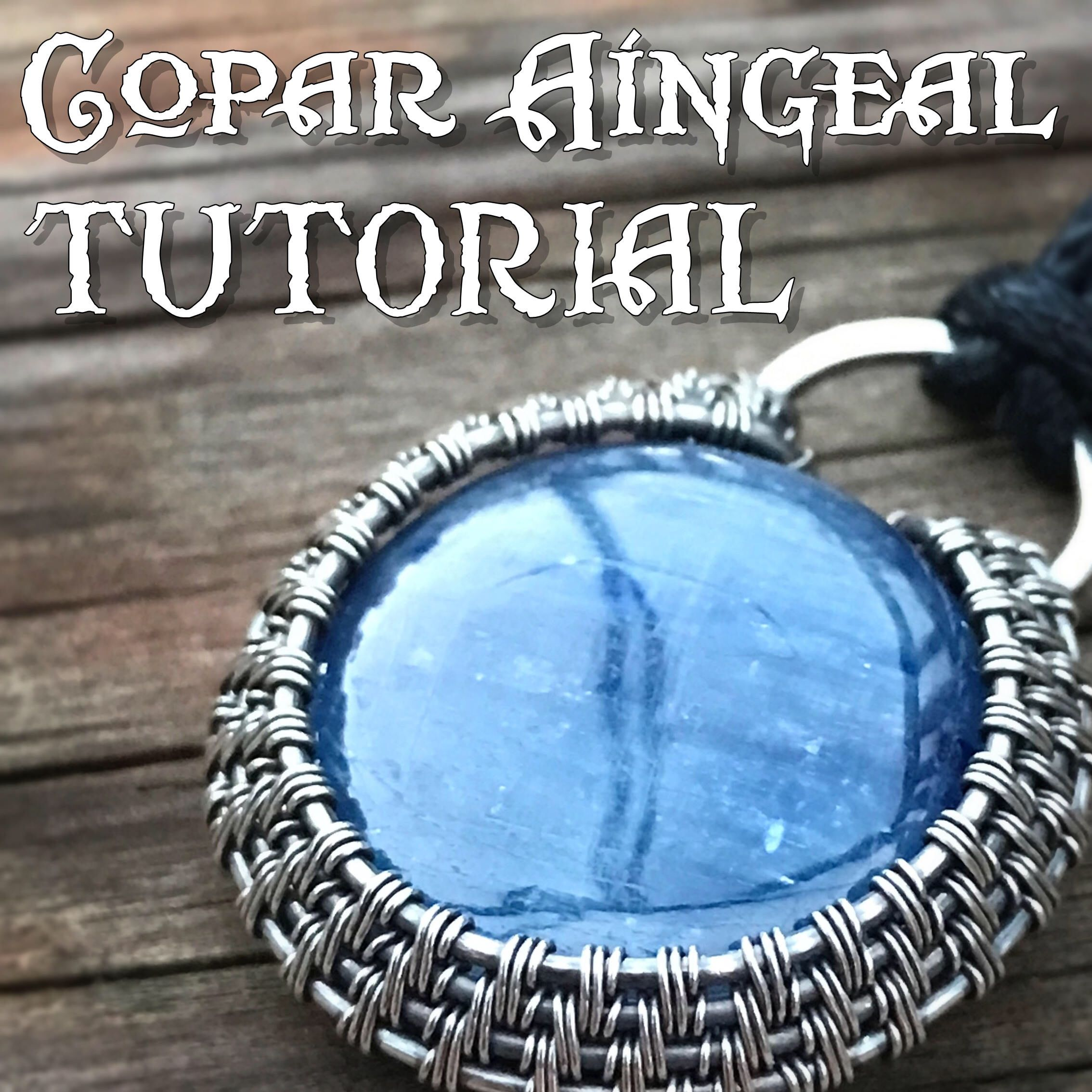 TUTORIAL - Halo - Wire Wrapped Pendant lesson for a Cabochon or Flat ...
