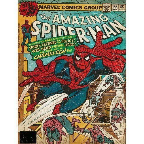 Art print POSTER CANVAS vintage spiderman