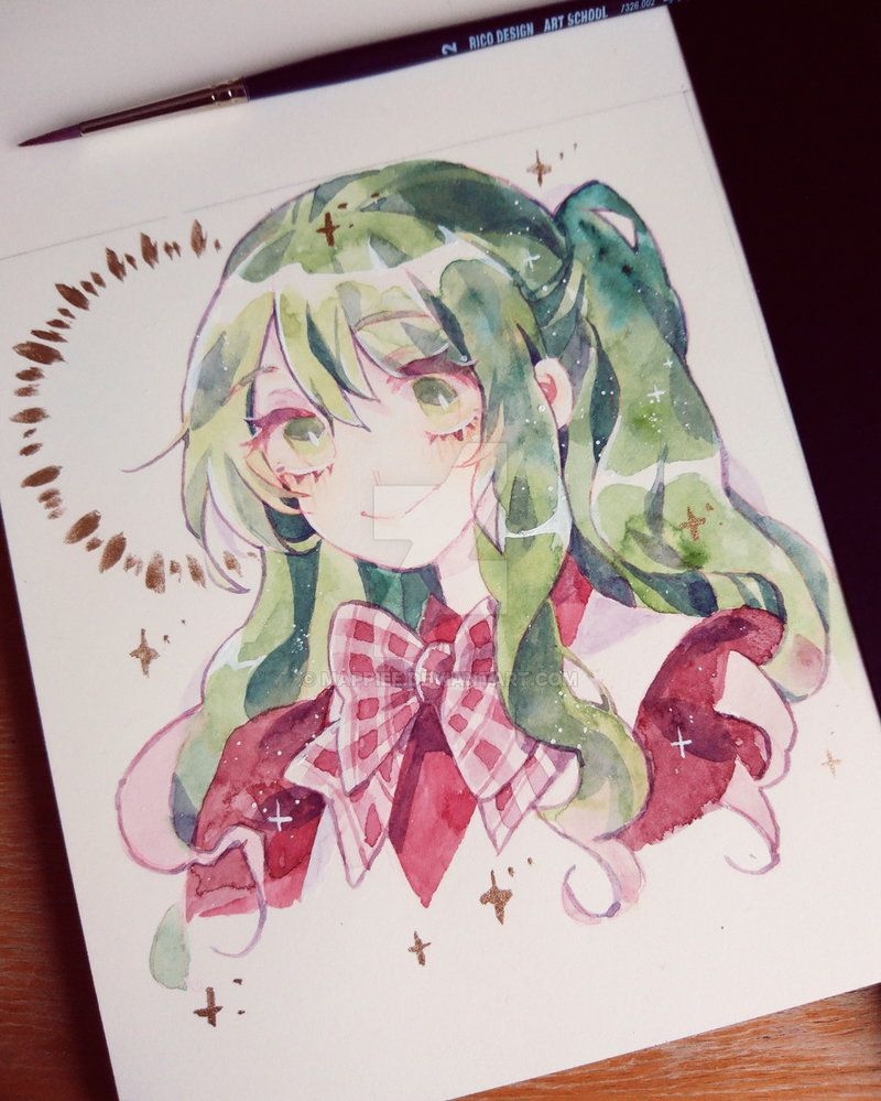 Commission By Mappiee Anime Art Anime Drawings Watercolor Artwork
