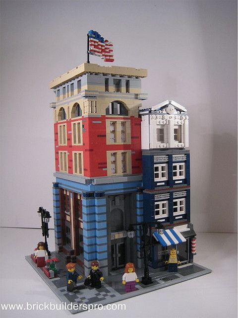 Corner Modular building with flag