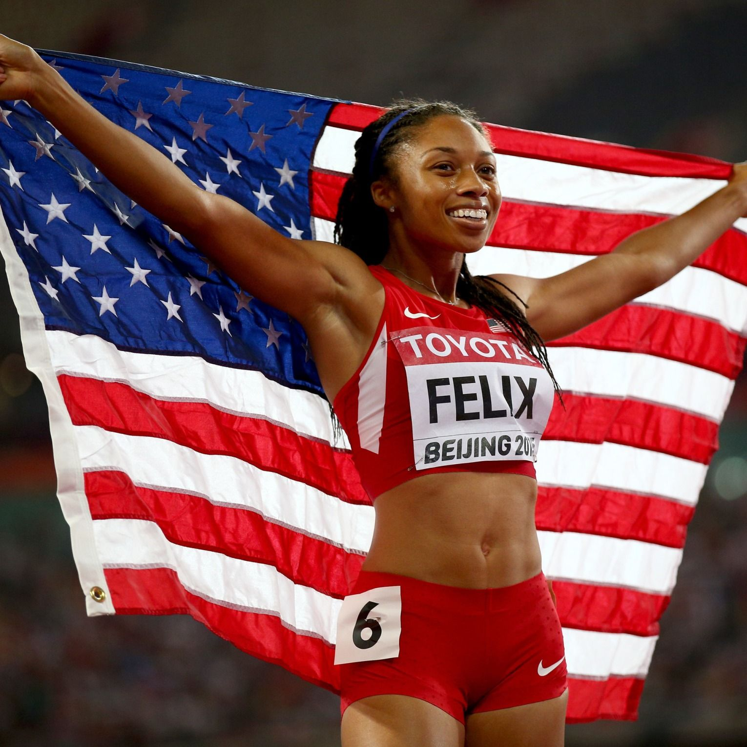 Allyson Felix 6 Olympic medals