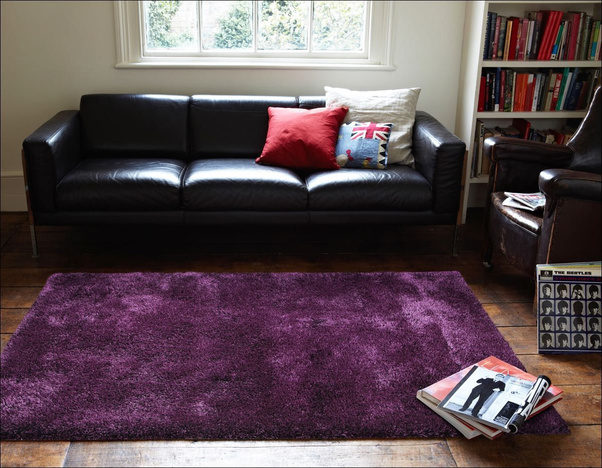 thick plush shimmering shag rug eggplant purple enjoy the warmth and comfort from this gorgeous shaggy