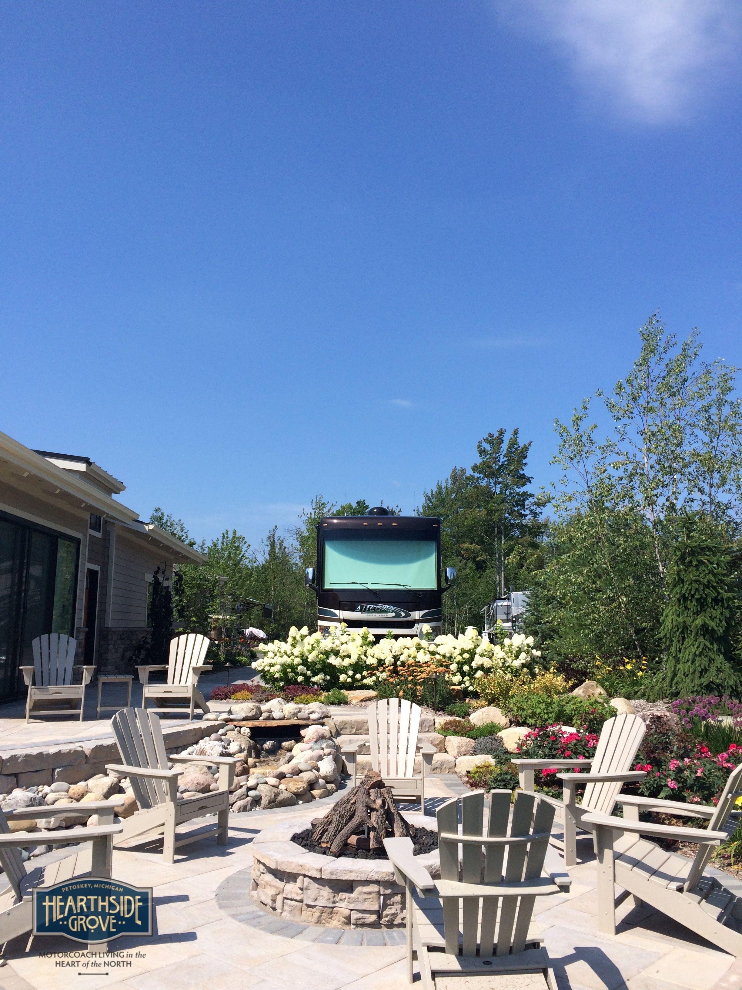 Hearthside Grove Luxury Motorcoach Resort Lot 159   #exterior #patio  #outdoor #firepit