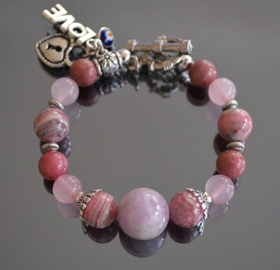 The Power of LoveHeart Chakra Bracelet with Turkish by iyildiz, $32.00