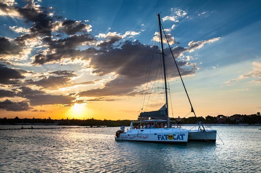 Catamaran Tour w/ Snorkling. $110, 2pm Cruise. Yes booze ...