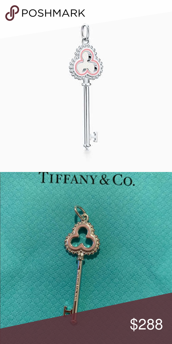 f63718958 Beaded Trefoil Key Pendant (pink) Brilliant beacons of optimism and hope,  Tiffany Keys are radiant symbols of a bright future. Thoughtful details add  a ...