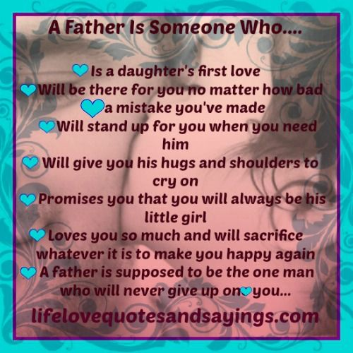 A Father Is Someone Who Will Never Give Up On You And For Those Men