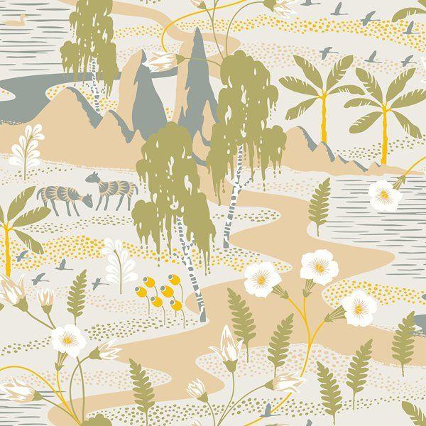 Brewster Wallcovering Beige Brown Magisk Oasis Wallpaper 21 In Wv1480 Rona Brewster Wallcovering Wallpaper Wallpaper Samples