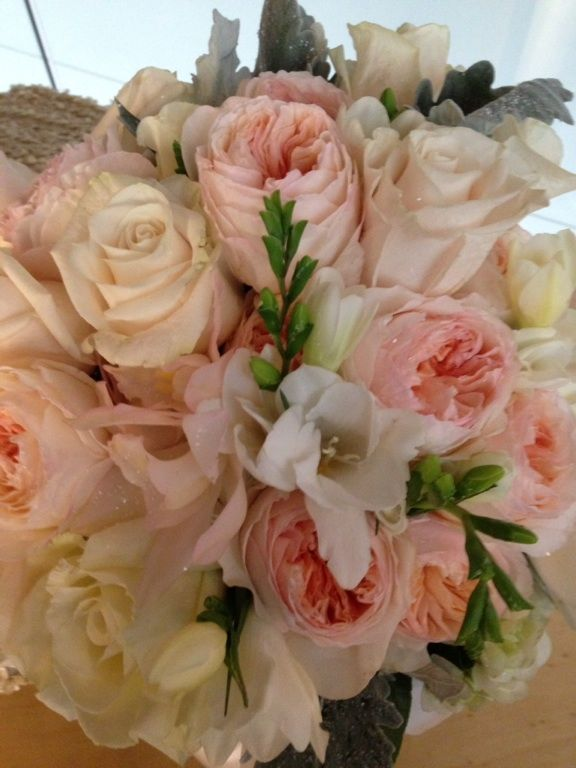 Juliet, Vendela & Garden Roses with freesia...smelled divine! Gallery of Flowers