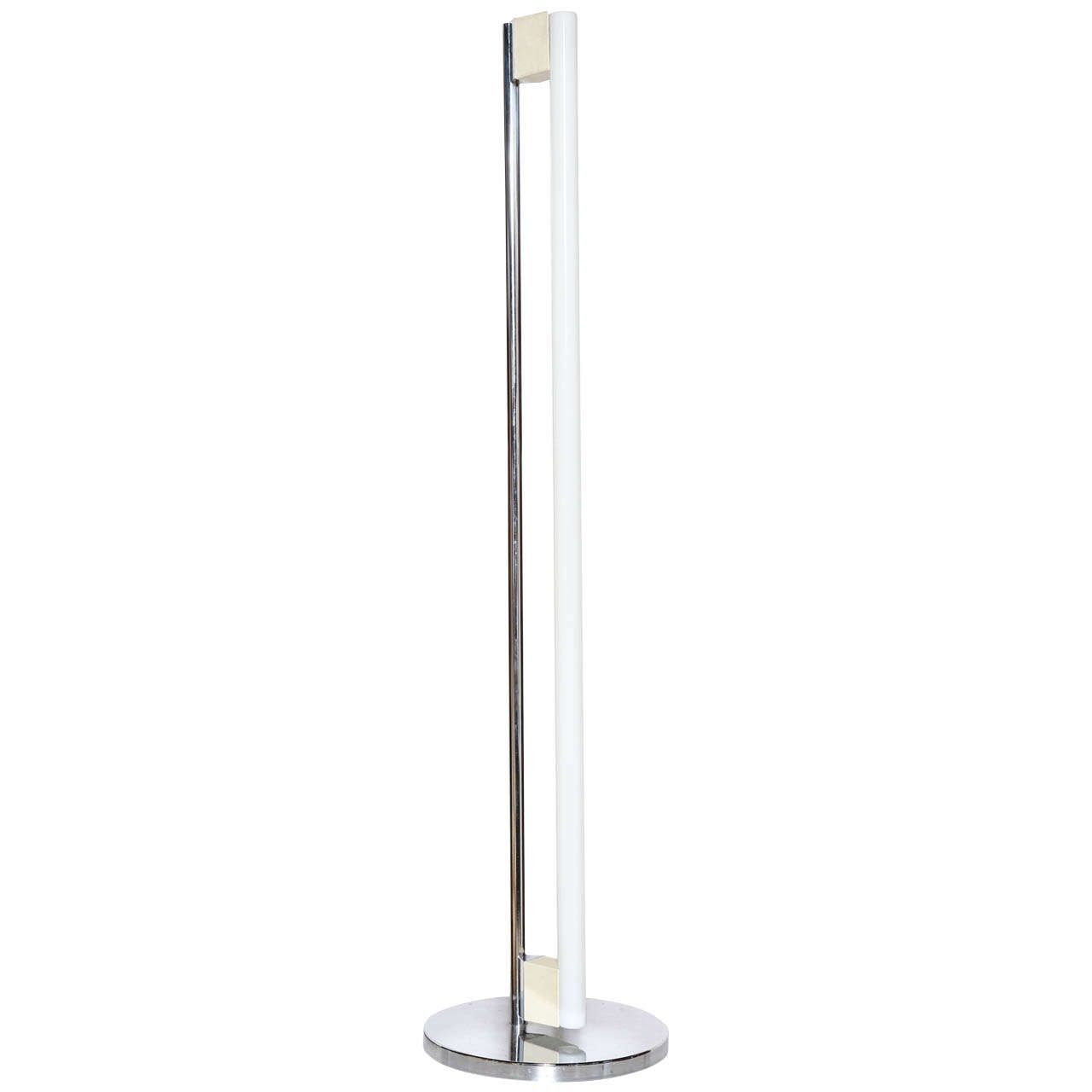 Nice Eileen Gray Designed Fluorescent Tube Floor Lamp | From A Unique Collection  Of Antique And Modern