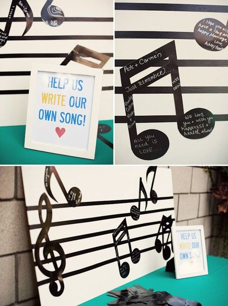 Guestbook Musical Notes Another Cute Idea Seeing As Both Of Us