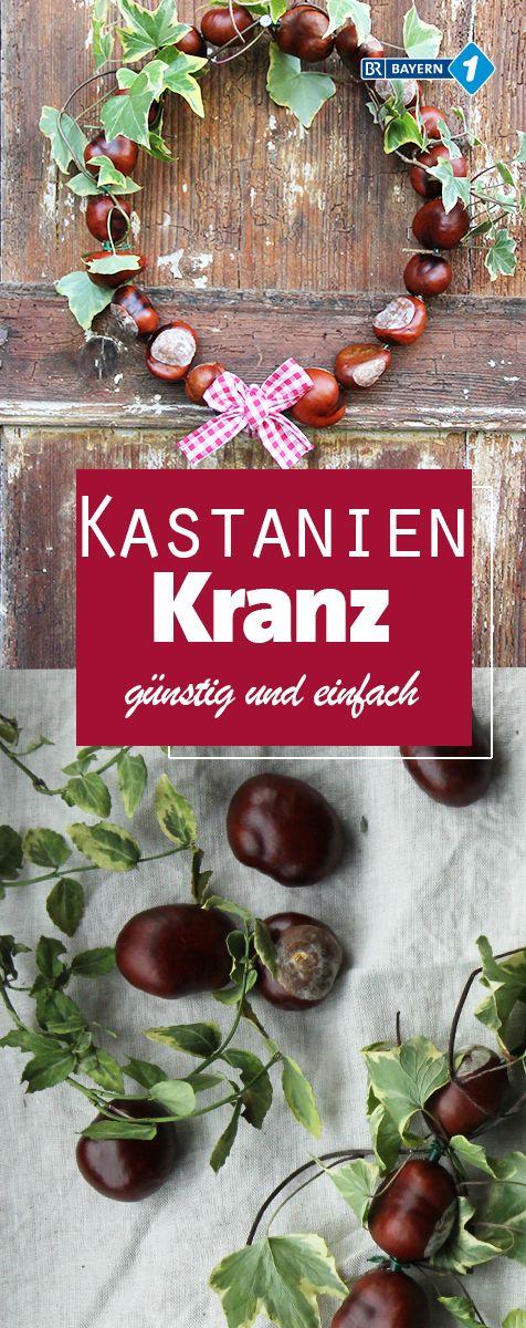 Photo of Herbstkranz : Türkränze aus Kastanien, Lavendel oder Kürbis basteln