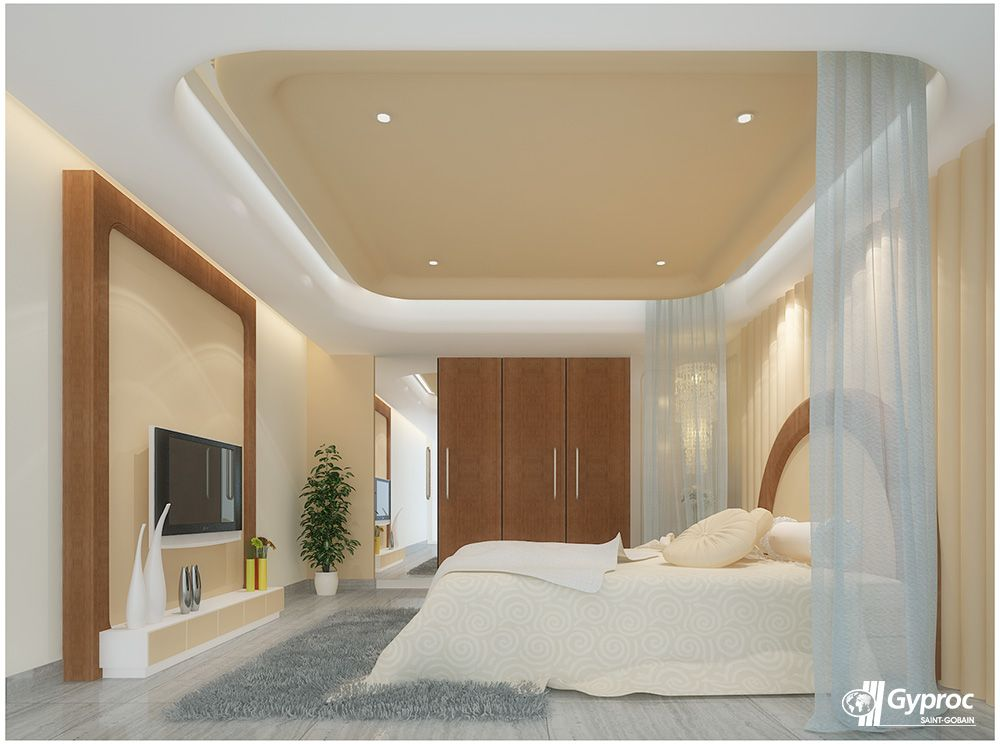 Here S An Attractive And Inspiring Ceiling For The Beautiful You Visit Www Gyproc In Ceiling Design Bedroom False Ceiling Bedroom False Ceiling Design