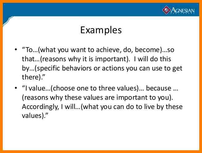 Short Personal Mission Statement Google Search Example Brand Examples Statements