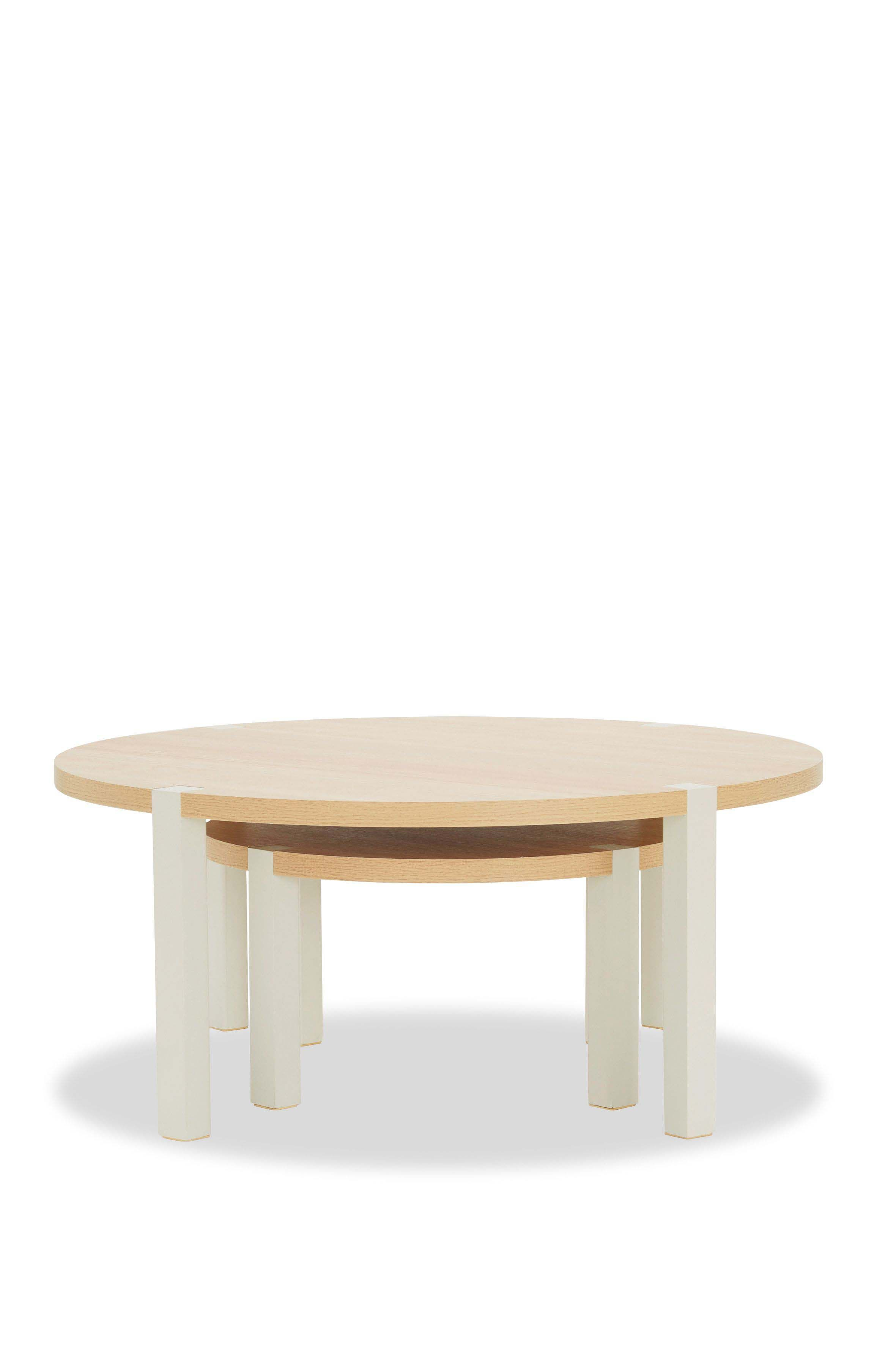 Next Malvern Round Coffee Nest Of Tables Cream Coffee Table