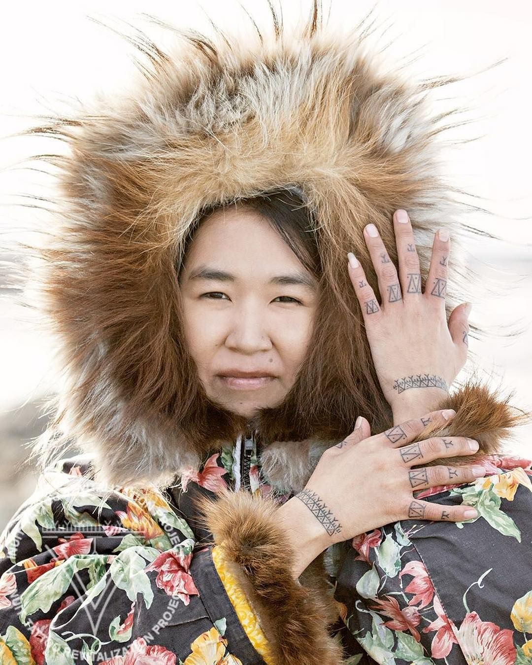 beautiful hand tattoos on my cousin mary nunavut inuk inuit