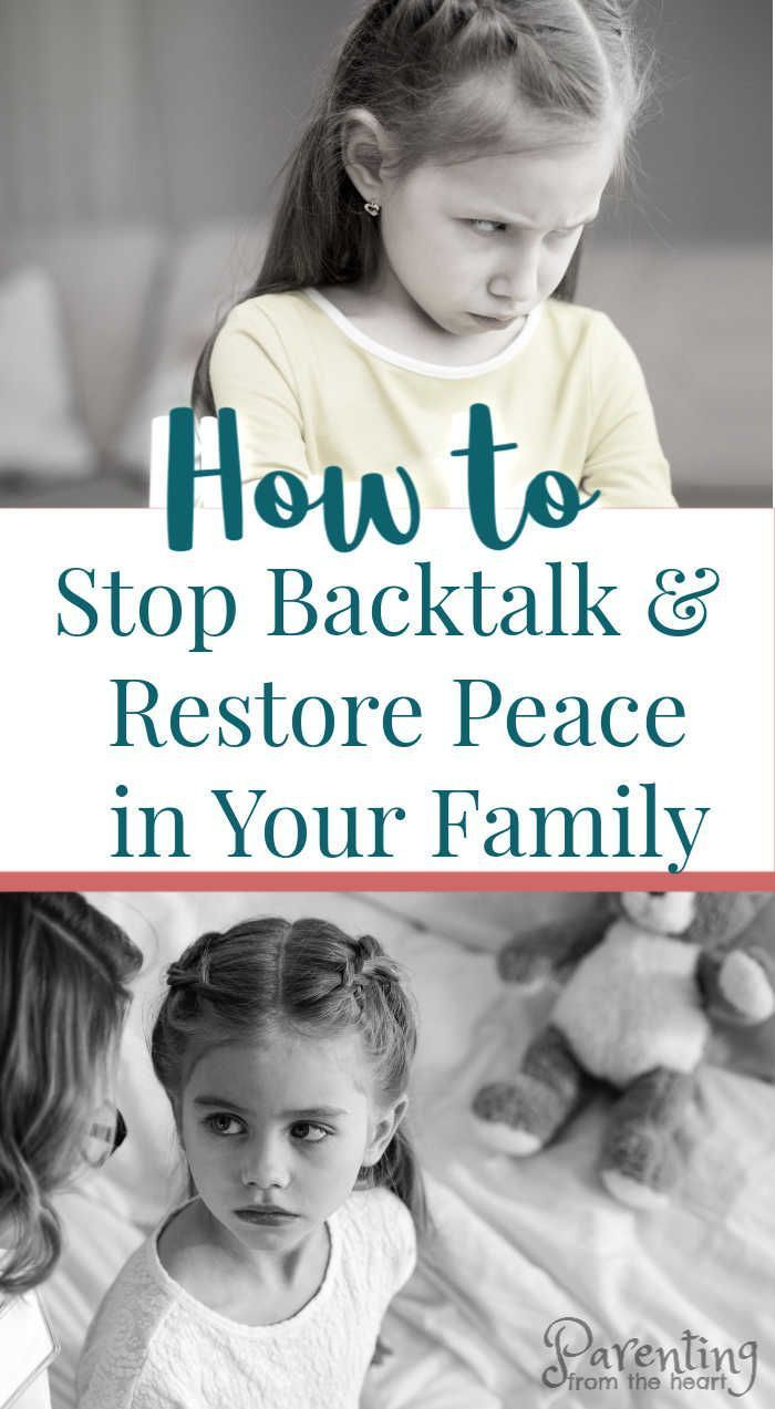 How to stop backtalk and restore peace in your family #parenting