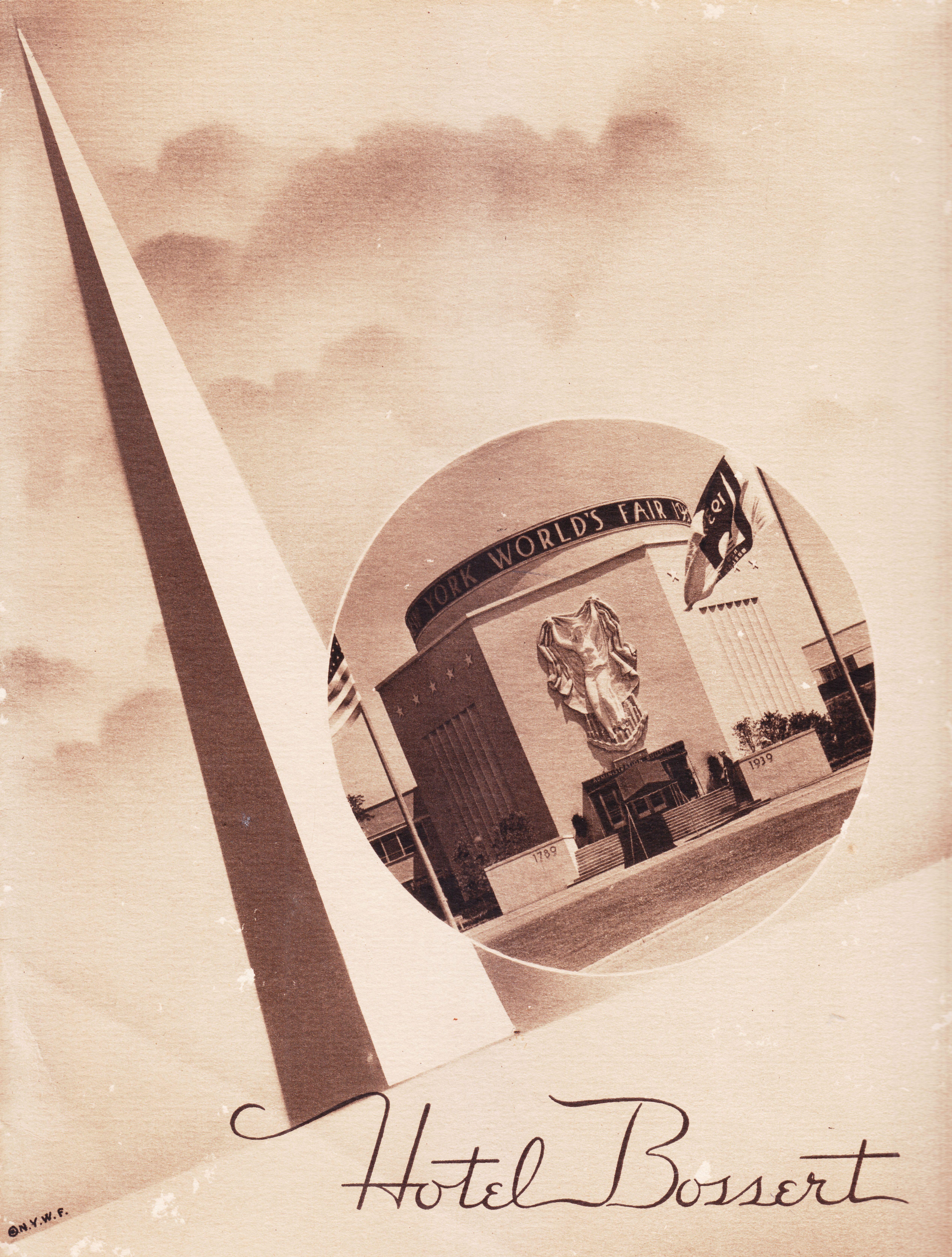 1939 New York World's Fair Menu