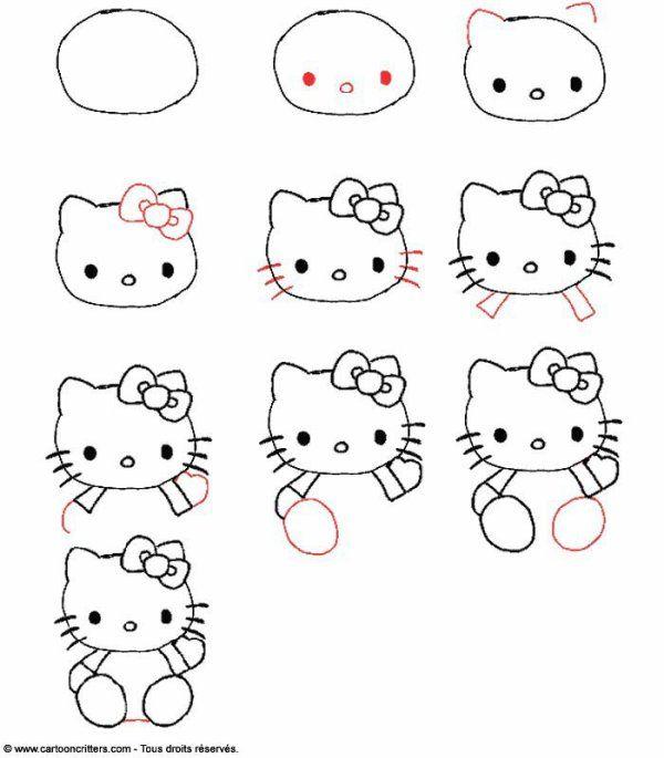 Super apprendre a dessiner etape par etape | Doodles | Pinterest | Hello  BP67