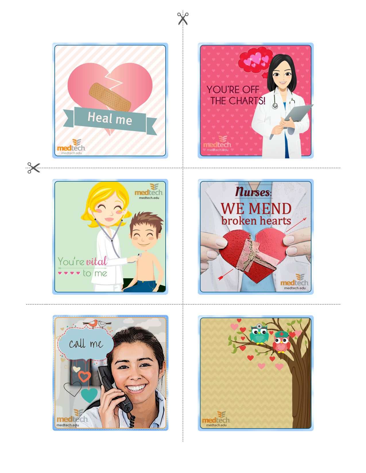 Healthcare Valentines Day Card Collection Nursing Medical