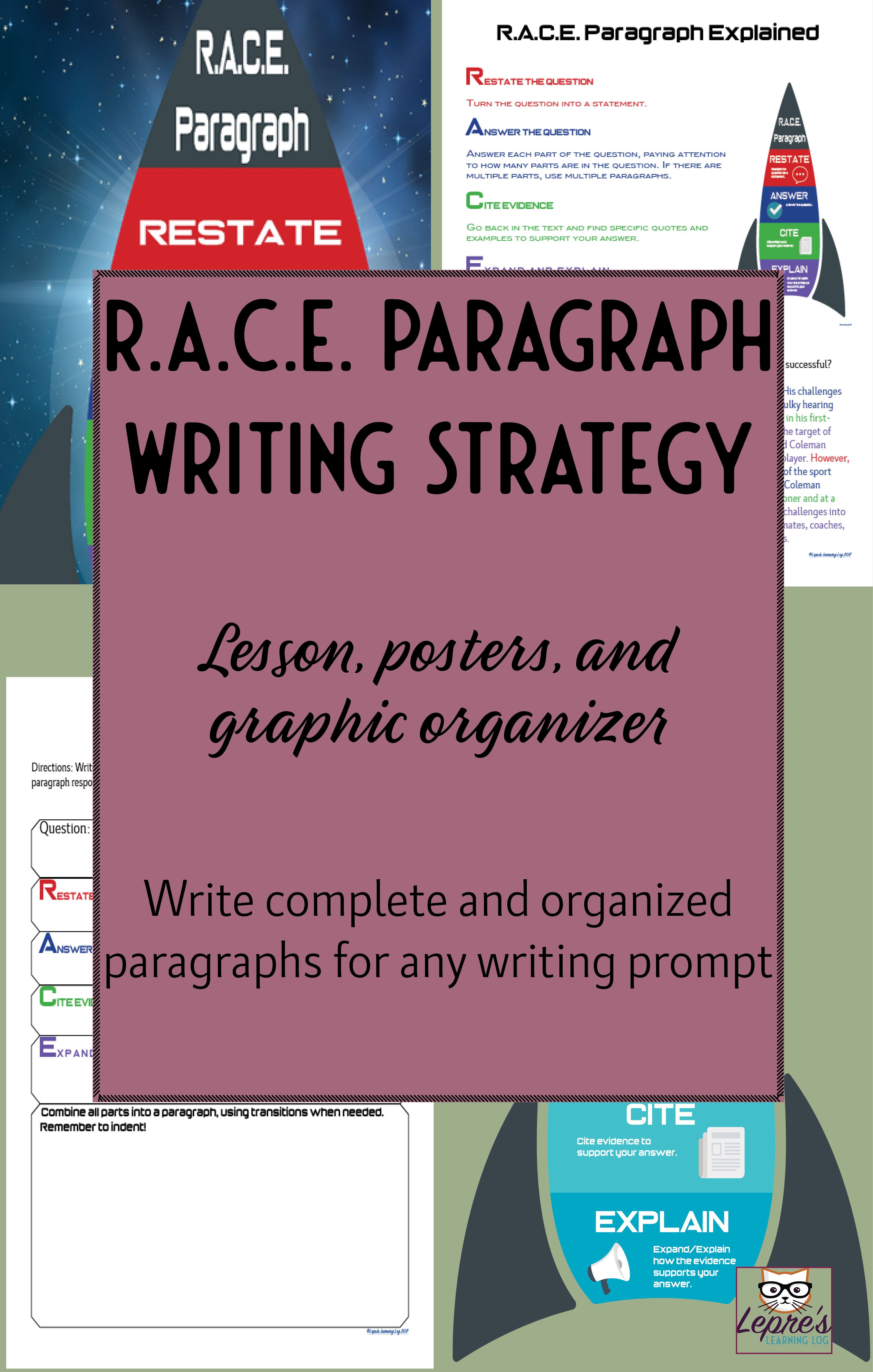race format for writing