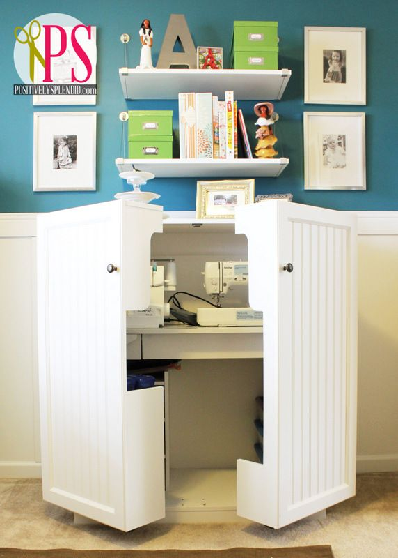 Sewing Room Home Office Reveal Meuble Couture Rangement Couture