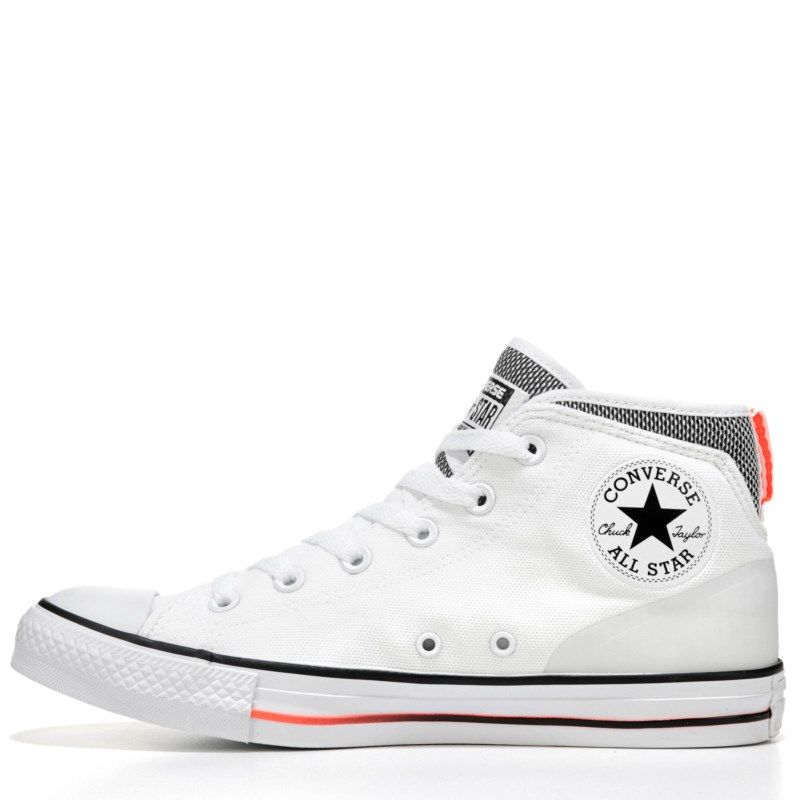 Converse Men s Chuck Taylor All Star Syde Street Mid Top Sneakers (White  Black Red) - 11.0 M f12303cbe