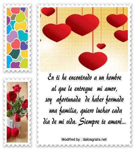 Bonitas Dedicatorias De Amor Para Mi Esposo Tarjetas Con