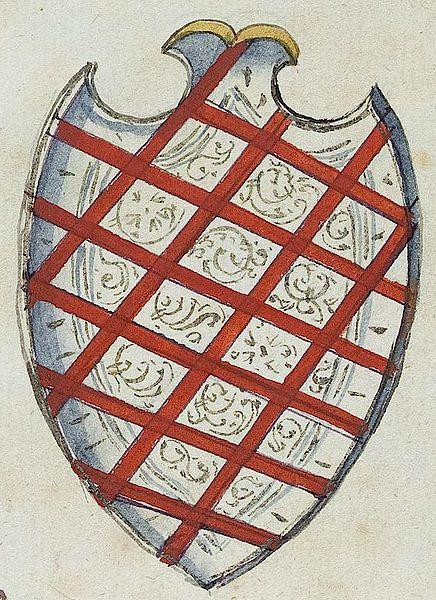 Wappen Nicolas Rottengatter, Rat von Nürnberg, 1611 (†1622) (Bl. 10r). -- «Chronologische Aufstellung der Genannten des Großen Rats der Stadt», [Nürnberg] (1560-1670) (UB Tübingen Md 51).