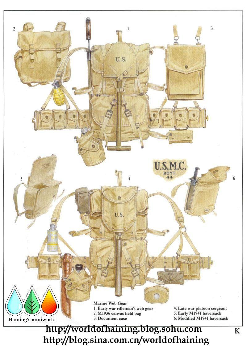 720d182dfba USMC kit WW2. USMC kit WW2 Us Marines ...