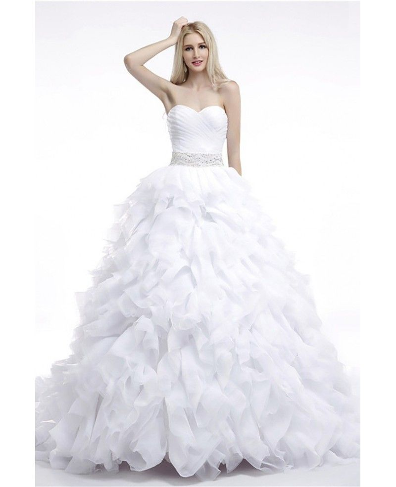 Cheap Ball Gown Wedding Dress Cascading Ruffled For Woman | Design ...
