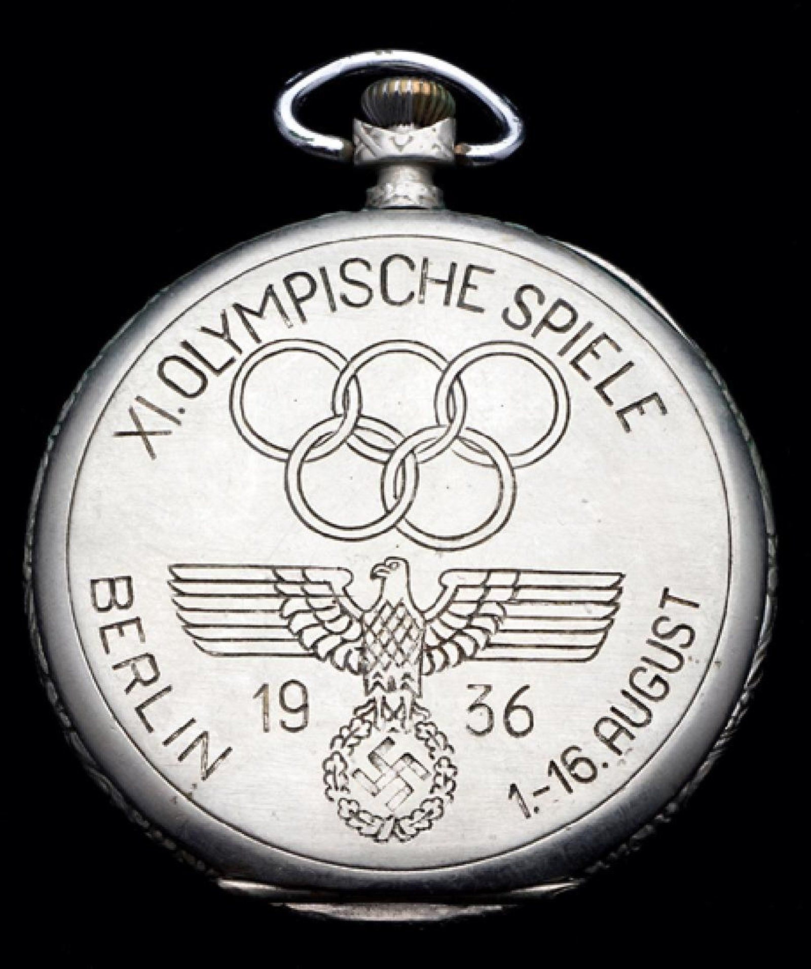 Berlin 1936 Olympic Games commemorative pocket watch 0138c43232